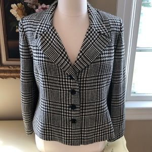 OLEG CASSINI GLEN PLAID JACKET